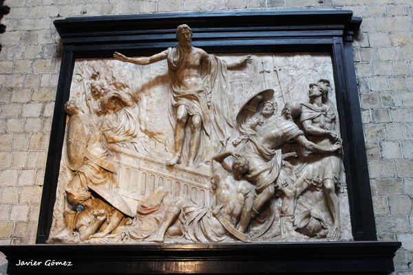 Colegiata de Saint Waudru de Mons - bajorrelieve - 1