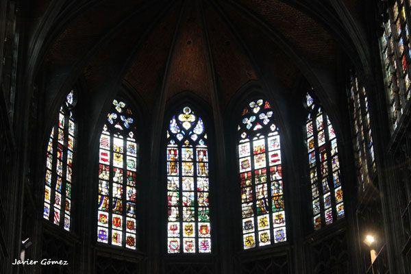 Colegiata de Saint Waudru de Mons - vidrieras - 1