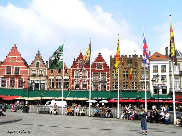 Plaza principal de Brujas, la Grote Markt