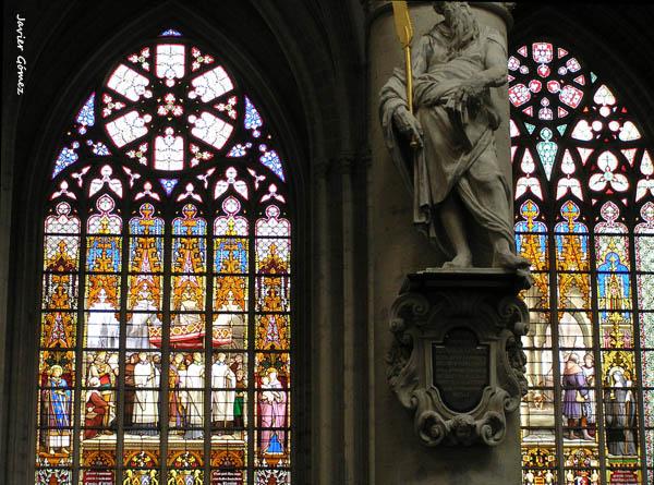 Catedral de Bruselas vidrieras