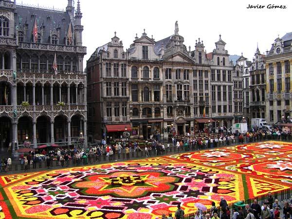 Alfombra de flores en la Grand Place
