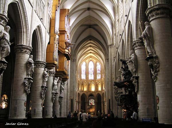 Catedral de Bruselas - interior