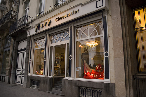 Mary Chocolatier, placer en Bruselas