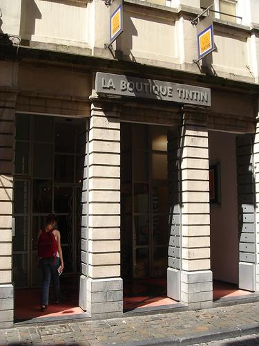 Boutique Tintin en Bruselas