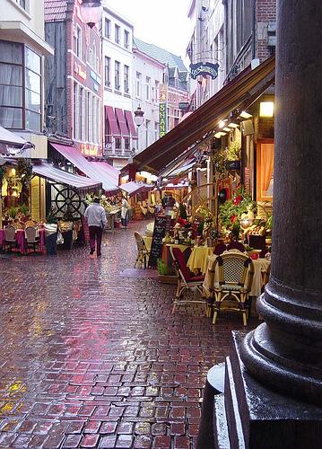 Una mañana de lluvia en Bruselas