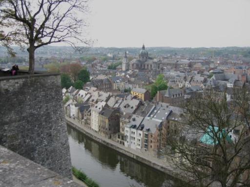 Vista de Namur desde la Ciudadela