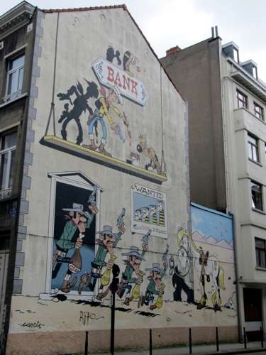 El mural Morris de Lucky Luke
