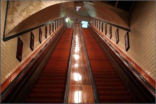 El túnel de Santa Ana, en Amberes