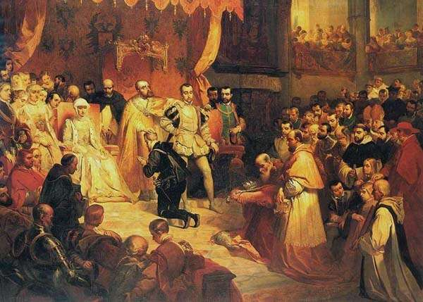 Abdicación de Carlos V