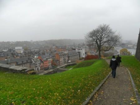 Bajando desde la Ciudadela de Namur