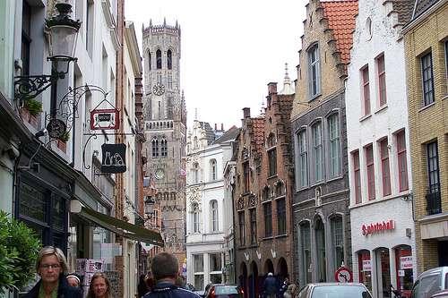 Breidelstraat, la calle más popular de Brujas