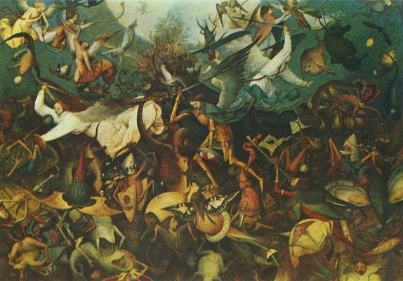 La Caida de los Ángeles Rebeldes de Pieter Brueghel el Viejo