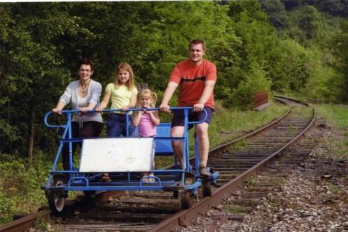 Bicicletas sobre el tren en la Valonia