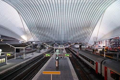 La nueva estación de ferrocarril de Lieja