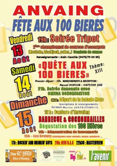 Festival de las 100 Cervezas en Anvaing