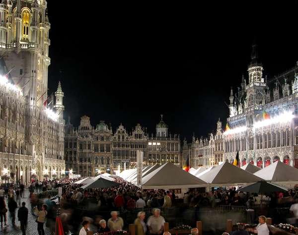Festival de la Cerveza en la Grand Place de Bruselas