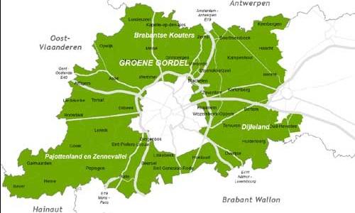 Groene Gordel, el cinturón verde de Bruselas