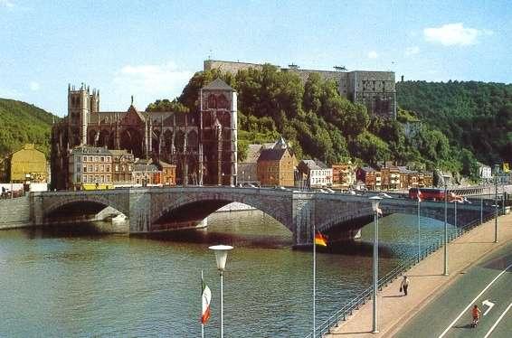 Vista de Huy y su Catedral