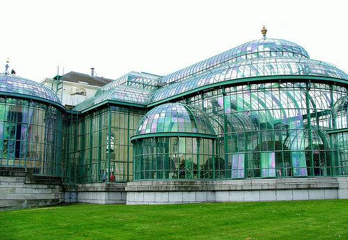 Los Invernaderos Reales de Laeken en Bruselas
