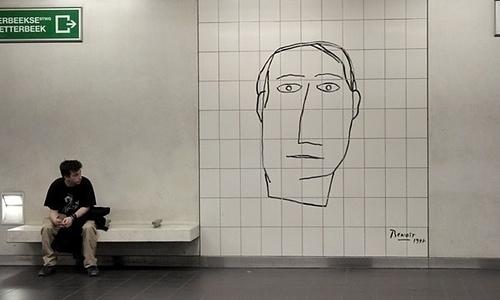 Arte en el metro belga