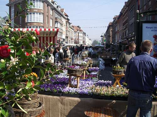 Gran Mercado Anual de Flores en Tournai