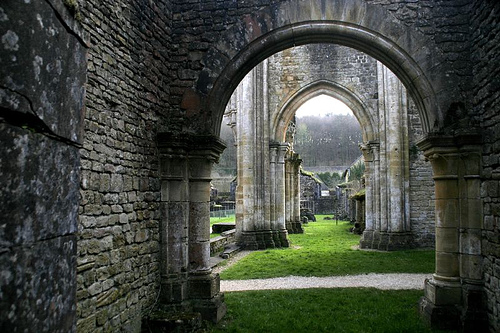 Ruinas de la antigua Abadia de Orval