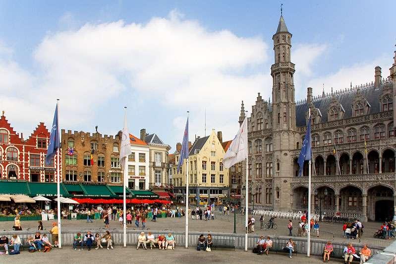 Plaza Markt en Brujas