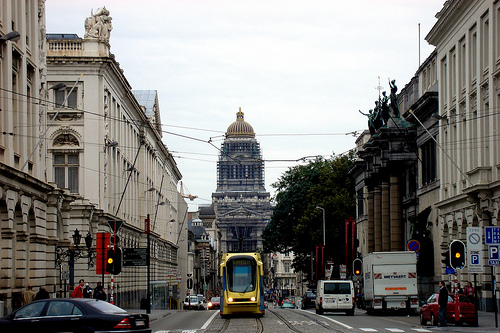 La Rue de la Regence en Bruselas