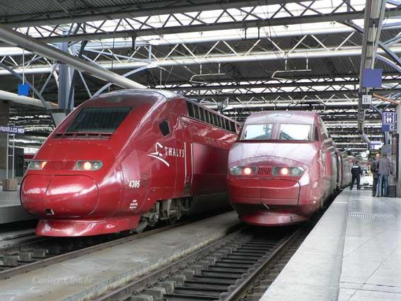 Tren Thalys en Gare du Midi