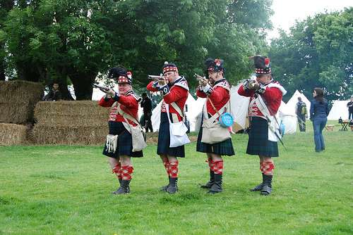 Batalla de Waterloo, recreación histórica