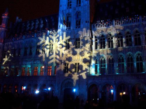 Preparando la Navidad 2009 en Bélgica