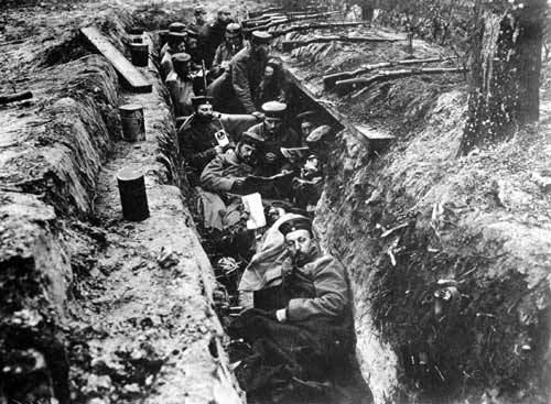 Trincheras en Ypres